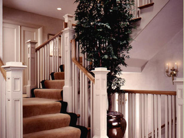 sophisticated sweeping staircase