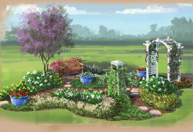 choose the region color garden for the northeast color garden