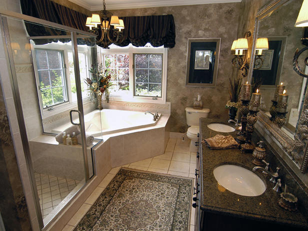 Home design interior traditional master bathroom for Traditional master bathroom design ideas